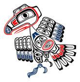 Haida Raven — Stock Vector