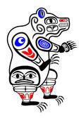 Haida Bear — Stock Vector