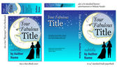 Romance Book COVER Design for Writers — Stock Vector
