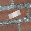 Bandaged Brick Wall. — Stock Photo #13578253