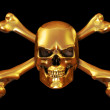 Stock Photo: Golden Skull and Crossbones