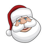 Santas Smiling Face — Stock Vector
