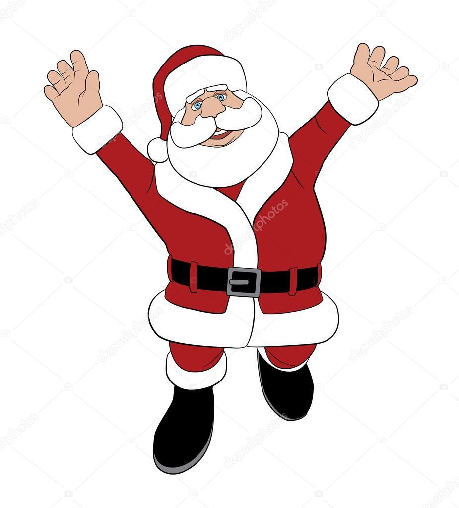 圣诞老人欢呼雀跃 — 图库矢量图像08