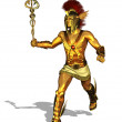 Greek God Mercury Running - Stock Photo