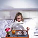 Colazione a letto — Stock Photo