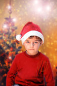 Boy waiting for gifts — Stock Photo