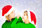 Santa s helpers — Stock Photo