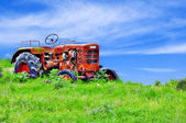 Der alte traktor — Stockfoto