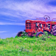 Old rusty tractor — Stock Photo
