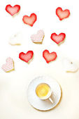Love and coffee — Stock Photo