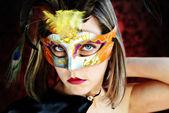 Donna carnevale moda — Foto Stock