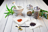 Officinal herbs — Stock fotografie