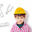 The little builder - Stock Photo