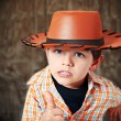 The little cowboy - Stock Photo