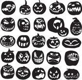 Silhouettes of Halloween pumpkin — Stock Vector