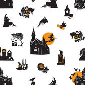 Seamless background with Halloween theme — Stock Vector