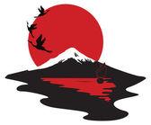 Miniature symbolizing Japan — Stock Vector