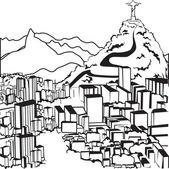里约热内卢 silhouettes — 图库矢量图片