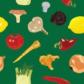 Seamless background with vegetables — Stockvektor