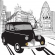 Royalty-Free Stock : Sketch London taxi