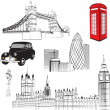 Set of elements representing England - Stock Vector