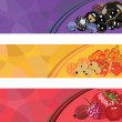 Royalty-Free Stock Vector Image: Three banners with berries of different colors