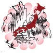 Stock Vector: Interpreted image of Japan