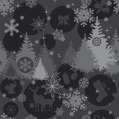 Christmas background in gray colors — Vettoriale Stock