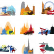 Miniatures different countries — Stock Vector #42466257