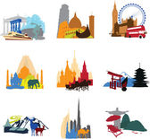 Miniatures different countries — Stock Vector