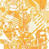 背景与美国的象征 — 图库矢量图片