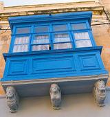Typische maltees balkon — Stockfoto