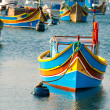 Colored boats, Malta — Stock Photo #13358634