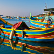 Colored boats, Malta — 图库照片