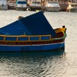 Colored boats, Malta — Stock Photo
