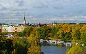 Autumn view of Stockholm — Stock Photo