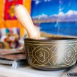 Buddhist singing bowl vase — Stock Photo