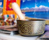 Buddhist singing bowl vase — Stock Photo