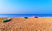 Boats on the beach, Goa, India — Stock Photo