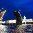 Palace bridge raising, St.Petersburg — Stock Photo #26906099