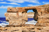 Azure (blue) window, Gozo, Malta — Stock Photo