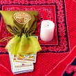 Stock Photo: Tarot cards and burning candle