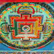 Thngka decoration in buddhist monastery — Stock Photo