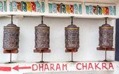 Buddhistische Gebetsmühlen — Stockfoto