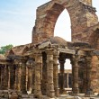 Stock Photo: Iron Pillar and Qutab Minar Ruins Delhi India