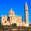 Blessed Virgin of Ta' Pinu famous church,  GOZO — Stock Photo