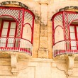 Malta, Mdina Traditional beautiful decorative balcony close-up — Stockfoto