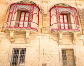 Malta, Mdina Traditional beautiful decorative balcony close-up — Stock Photo