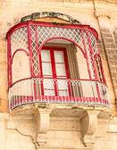 Malta, Traditional decorative balcony close-up — Stock Photo