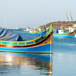 Colored fishing boats, Malta — Stock Photo